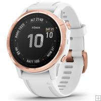 Garmin Fenix 6S Pro Rose Gold GPS Watch White Band