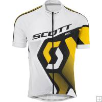 Scott RC Pro Jersey Short Sleeve White/ Yellow RC 2012