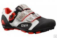 Fizik M5 Uomo Mens Mtb Shoes Black Silver Red
