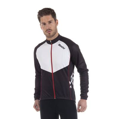 Santini Kines Long Sleeve Jersey Black/White