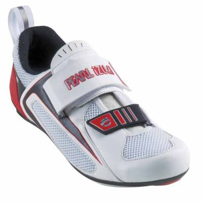 Pearl Izumi Tri Fly III Carbon Shoes White / Red