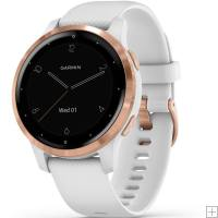 Garmin Vivoactive 4S GPS Smartwatch White With Rose Gold