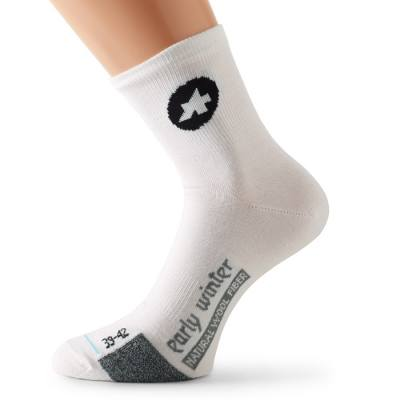 Assos S7 Early Winter Socks White Panther