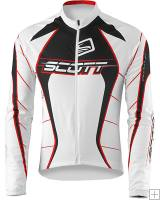 Scott RC Pro Longsleeve Jersey (White / Chinese Red) 2009