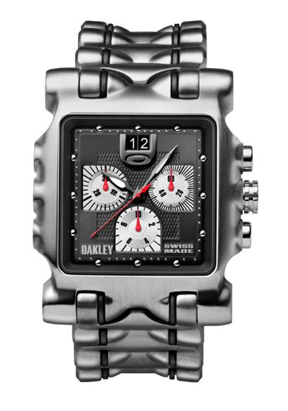 Oakley Minute Machine Watch Black Dial/ Titanium Bracelet