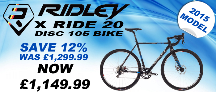 RIDLEY X RIDE 20 DISC 105 BIKE 1503AM 2015