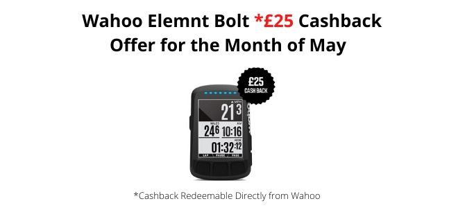 Wahoo Element Bolt Cashback